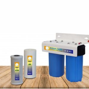 junior jumbo water filter system for whole house water filtration come with the size of 10 x 4.5 perfect for small spaces