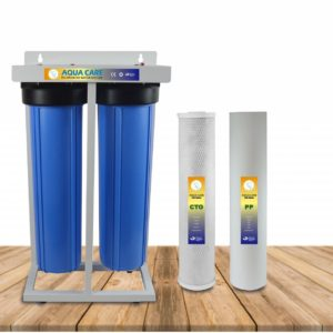 Jumbo two stage water filter with sediment and carbon block filter for clean water in whole house