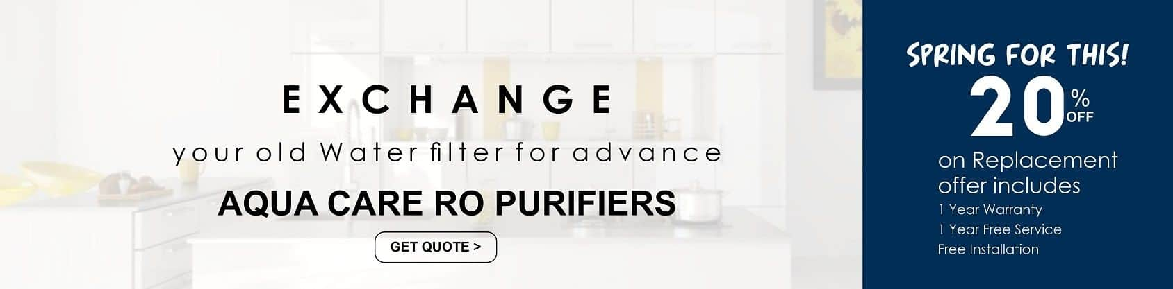 replace your old RO purifier with new aqua care ro purifier system